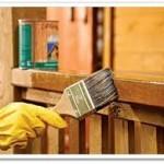 Окраска изделий из древесины